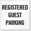 Registered Guest Parking, Parking Lot Stencil