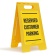 Reserved Customer Parking Floor Sign