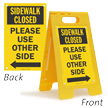 Sidewalk Closed 2 Sided Standing Floor Sign