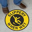 Slippery When Wet Anti-Skid Vinyl Floor Sign