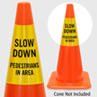 Slow Down Pedestrians In Area Cone Collar