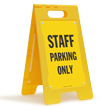 Staff Parking Only Floor Sign