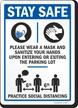 Parking Lot Social Distancing Sign