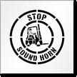 Stop Sound Horn Floor Stencil