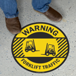 Forklift Traffic Warning SlipSafe Floor Sign