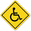 Handicapped Person On Board Symbol