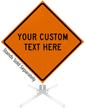 Custom Orange Roll-Up Sign