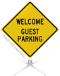 Welcome Guest Parking Roll-Up Sign