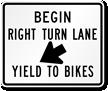 Begin Right Turn Lane Road Traffic Sign Symbol