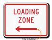 Loading Zone MUTCD Sign with Arrow