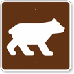 Bear Viewing Area, MUTCD Campground Guide Sign