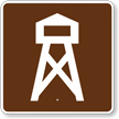 Lookout Tower, MUTCD Guide Sign for Campground