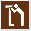 Viewing Area, MUTCD Guide Sign for Campground