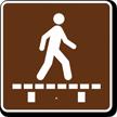 Walk on Boardwalk, MUTCD Campground Guide Sign