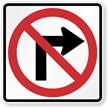 No Right Turn Sign (Symbol)