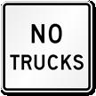 MUTCD  Compliant No Trucks Sign