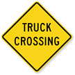 Truck Crossing - Road Warning Sign