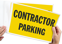 Contractor Parking Signs Book