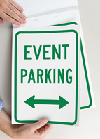 Event Parking Directional Signs Book