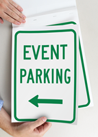 Event Parking Left Arrow Sign Book