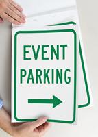 Event Parking Right Arrow Sign Book