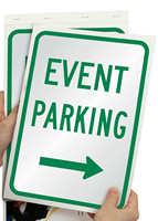 Event Parking With Right Arrow SignBook