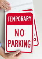 Temporary No Parking Signs Book