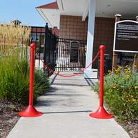 2 in. Solid Color Pole Stanchions, Light Duty
