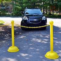 3 in. Solid Color Pole Stanchions, Heavy Duty