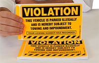 Vehicle is Parked Illegally Sticker