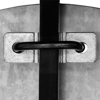 Pair of Brackets-Decorative Fence Attachment Kit