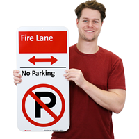 Fire Lane iParking Sign