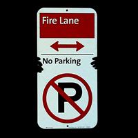Fire Lane - No Parking Sign