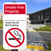 Smoke-Free Property Thank You For Not Smoking Signs