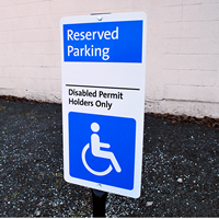 Disabled Permit Holders Reserved Parking Signs