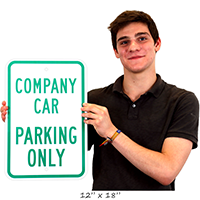 Reserved Parking Sign For Company Car Only