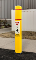 FlexBollard with Graphic For Parking