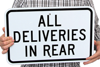 All delevieries Parking Lot Sign