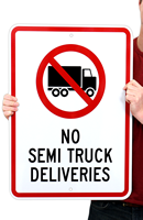 Truck and Delivery Sign With Symbol