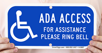 ADA Access Sign With Accessible Symbol