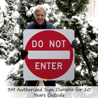 3M Authorized Sign Durable for 10 Years Outside