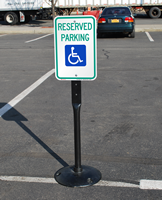 Reserved Parking Sign and Post Kit