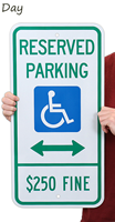ADA Handicapped Reserved Parking Sign