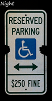 Reserved Parking ADA Handicap Sign
