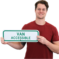 ADA Handicapped Van Accessible Sign
