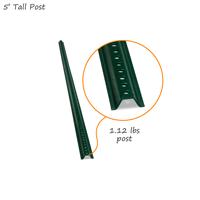 5' Tall Baked Enamel Post