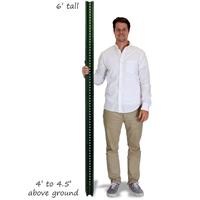 Municipal U-Channel Signs Post - 6' tall