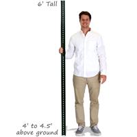 Standard U-Channel Signs Post - 6' tall
