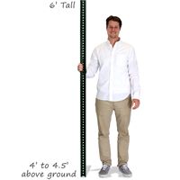 U-Channel Sign Post Kit - 6' tall