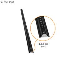 Black Standard U-Channel Sign Post Kit 6' Tall (with nuts & bolts)
